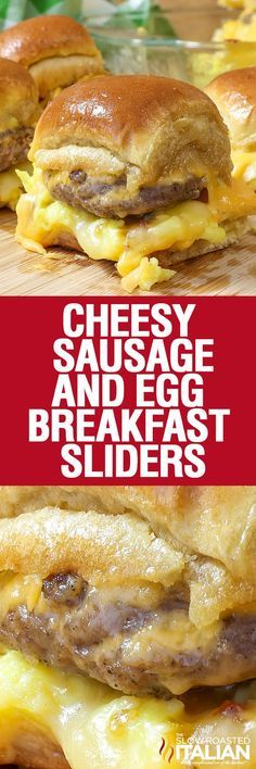 Cheesy Sausage and Egg Breakfast Sliders are a fully loaded perfectly portable hand held breakfast. All of your favorite breakfast fixin's come together with the most amazing and unexpected glaze to create the perfect Brinner (breakfast or dinner).  We love these for game day and let me tell you they are amazingly convenient for tailgating! #JonesFamilyRules #ad /jonesdairyfarm/
