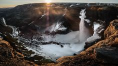 Sunset at Haifoss waterfall - Iceland - Travel photography by pixael More Pictures, Most Beautiful Pictures, Landscape Photography, Travel Photography, Iceland Travel, Photos Of The Week, Earth Tones, Wonderful Places, Beautiful Landscapes