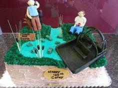Custom Birthday Cake. Swamp, Airboat and Gators