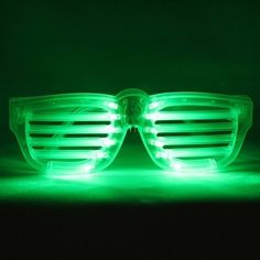 LED Rock Star Green Shutter Sunglasses by Emazing Lights. $5.50. These are awesome LED glasses that practically give you a light show. These things are bright and truly make a statement when worn!. Save 31%!