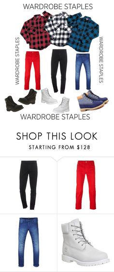 """""""Switch up !"""" by watsonpleshette ❤ liked on Polyvore featuring Kenzo, Diesel Black Gold, Scotch & Soda, Timberland, men's fashion, menswear, plaid and WardrobeStaples"""