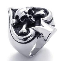 skull ace bike ring