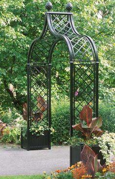 Brighton Victorian Garden Arch - from Classic Garden Elements Garden Arch Trellis, Garden Archway, Garden Arbor, Garden Gates, Diy Trellis, Garden Landscaping, Metal Arbor, Metal Pergola, Arco Floral