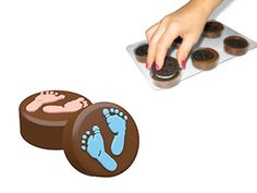 Make your own chocolate covered Oreos® with the 6 Cavity mould. Baby Feet perfect for Christenings and showers!