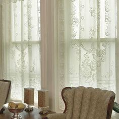 Victorian Rose 84″ Panel – Heritage Lace Romantic Collection – 2860E-6084, 2860W-6084 | Lace Curtain Store