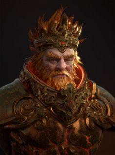 ArtStation - Old King, PolyPainter .