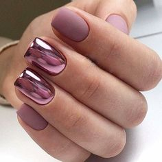 100 vakreste korte negler-design for 2019 - Nails Fancy Nails, Trendy Nails, Pink Nails, Gel Nail Art, Acrylic Nails, Nail Polish, Gel Chrome Nails, Chrome Nails Designs, Nail Nail