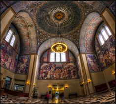 los+angeles+library | Rotunda of the Los Angeles Central Library .