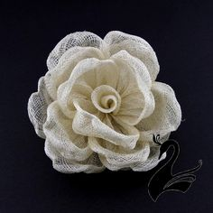 Flower-Sinamay-Cabbage-Rose-Ivory-Millinery-Hats-Fascinators