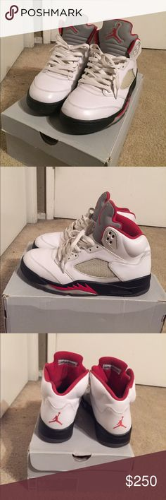 2012 fire red 5s Good condition willing to trade or sell Jordan Shoes Sneakers