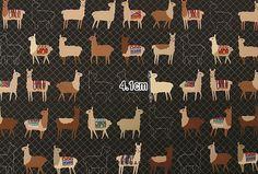 Alpaca fabric Alpaca pattern 44x35 100% Cotton 20s by KoreaBacol
