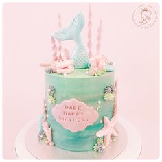 "* Kueen Cakes (@kueen.cakes) on Instagram: ""Dream Big Little Mermaid #kueencakes"""