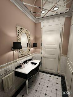 Гостевой санузел: интерьер, зd визуализация, квартира, дом, санузел, ванная, туалет, французский, прованс, 0 - 10 м2, стена, интерьер #interiordesign #3dvisualization #apartment #house #wc #bathroom #toilet #french #provence #010m2 #wall #interior arXip.com