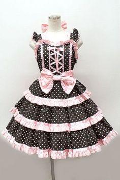 Angelic Pretty / リリカルドットジャンパースカート