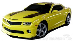 "2010-2013 or 2014-2015 Chevy Camaro ""BUMBLE BEE 2"" Style Racing and Rally Stripes Kit for SS, RS, LT, LS Models"