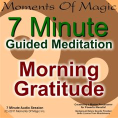 Hypnosis Downloads - Morning Gratitude Guided Meditation, $3.99 (http://www.hypnosisdownloads.org/morning-gratitude-guided-meditation/)