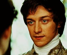 James McAvoy/Tom Lefroy him looking into the eyes
