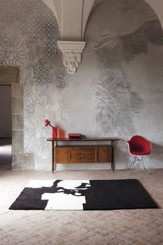 EQ Dekor by Mapei and Inkiostro Bianco wall Interior Desing, Interior Walls, Interior Decorating, Faux Walls, Textured Walls, Textures Murales, Artistic Wallpaper, Wall Finishes, Transitional Decor
