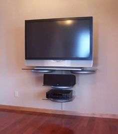 Wall Mount Tv Glass Shelves