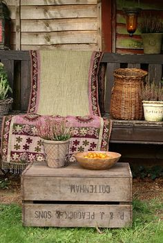 Nothing like an old porch swing to make the spot inviting!