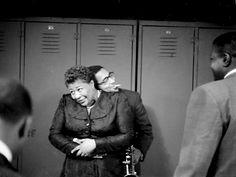 Ella Fitzgerald and Dizzy Gillespie backstage, New York, 1952, photograph by Herman Leonard