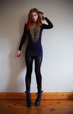 98901c68240f8 Love this edgy outfit! But are those tights or leather leggings  I mean  either