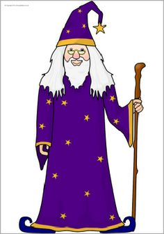 Giant wizard picture for display (SB10651) - SparkleBox