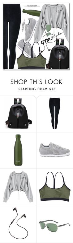"""""""Sweat Sesh: Gym Style"""" by paculi ❤ liked on Polyvore featuring M&Co, S'well, Puma, B&O Play and sweatsesh"""