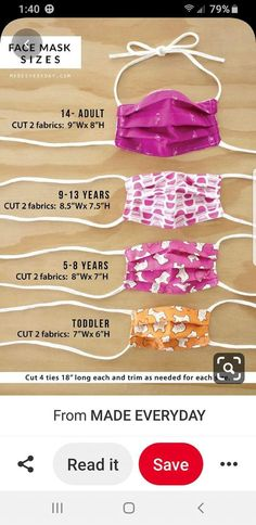 Easy Sewing Projects, Sewing Hacks, Sewing Tutorials, Sewing Patterns, Sewing Tips, Sewing Ideas, Easy Face Masks, Face Masks For Kids, Diy Face Mask