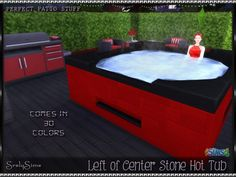 Left of Center Stone Hot Tub at SrslySims • Sims 4 Updates