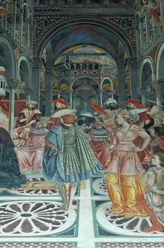 Pope Celestine III granting the privilege of autonomy to the Hospital, detail.by Domenico di Bartolo - Santa Maria della Scalla - Italian Baroque, Italian Art, Italian Renaissance, Renaissance Art, Siena, Santa Maria, Pet Ferret, Floor Cloth, Perspective Drawing