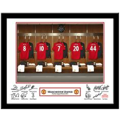 Personalised Manchester United Dressing Room Print  from Personalised Gifts Shop - ONLY £29.99
