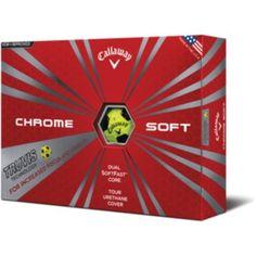 372d25c89136 Callaway Chrome Soft 2016 Truvis Golf Balls 12-Pack Yellow Black - Golf  Equipment
