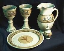 pottery communion plates - Yahoo Image Search Results Communion Sets, Bowl Set, Image Search, Pottery, Plates, Ceramica, Licence Plates, Dishes, Griddles