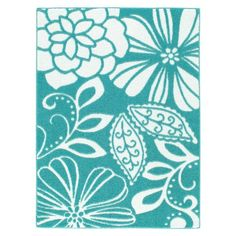 Xhilaration® Floral Rug at Target Turquoise Rug, Teal Rug, Floral Area Rugs, Floral Rug, Laundry Room Rugs, 2nd Baby Showers, Target Rug, 4x6 Rugs, Cube Design
