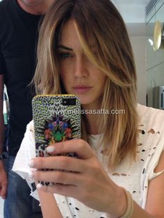 Nuovo look! Thanks Aldo Coppola! Hair Color And Cut, Cut My Hair, Hair Cuts Lob, Good Hair Day, Great Hair, Melissa Satta, Look 2018, Chocolate Hair, Hair 2018