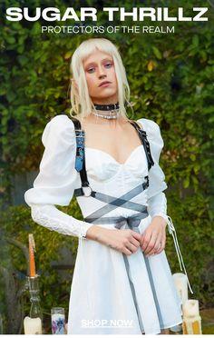 Online Boutique for the Misfits & Miss Legits | Dolls Kill Underground Clothing, Suspender Dress, Lace Babydoll, Chiffon Ruffle, Alternative Outfits, Kawaii Fashion, Sugar, Misfits, Dresses