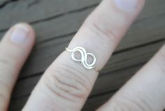 Wire Ring,Toe Ring, Knuckle Ring, Midi Ring, Wire Ring, Ring Tiny Infinity Non Tarnish Silver Plated Wire on Etsy, $8.00