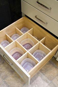 Plastic container storage