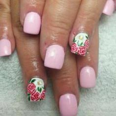 Rose Nails, Pink Nails