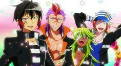Jyugo, Rock, Nico, and Uno || Nanbaka