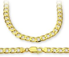ChainCo 9ct Yellow Gold 39.8g Curb Necklace of  76cm/30 Inch Length and  6.6mm Width - http://www.wonderfulworldofjewelry.com/jewelry/mens-jewelry/chainco-9ct-yellow-gold-398g-curb-necklace-of-76cm30-inch-length-and-66mm-width-couk/ - Your First Choice for Jewelry and Jewellery Accessories