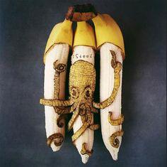 Octopus Banana Art