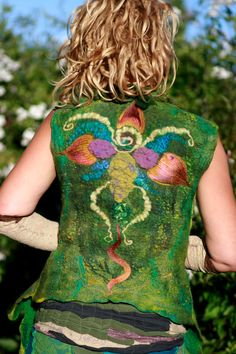 Felted vest. Absolutely gorgeous!