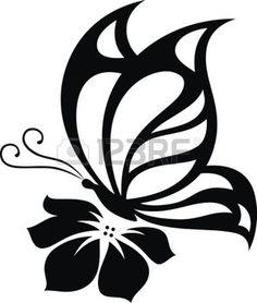 butterfly tetování: Stylizovaný obrázek motýla ve formě tetování