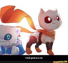 Omgg, soo cute. Kitty Papyrus and Kitty Sans.