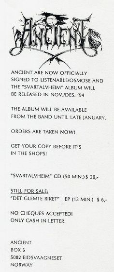 Band flyers (Norwegian Black Metal)-011