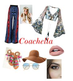 """""""coachella"""" by ollalorenza on Polyvore featuring Roberto Cavalli, Balmain and Emily Rose Flower Crowns"""