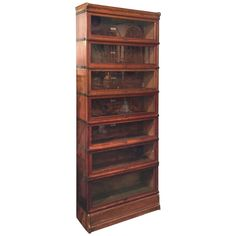 Globe-Wernicke Large Stacking Lawyer's Bookcase of Oak | From a unique collection of antique and modern bookcases at…