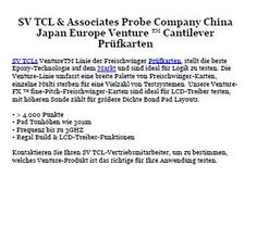 SV TCL & Associates Probe Company China Japan Europe Venture ™ Cantilever Prüfkarten